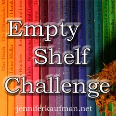 """Join me on my """"Empty Shelf Challenge"""".  Inspired by (and as I participate in) @Jon Acuff's challenge.  Find his post link in mine, and join his pinterest board for much more reading inspiration!"""