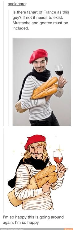 "Yes! In the B.H.s (age Before Hetalia), this is what came to mind whenever I though ""French person"""