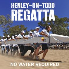 The Henley-on-Todd Regatta in Australia is oar-some! A boat race with no water in the Northern Territory Outback, Alice Springs always lives up to its entertaining and hilarious events! Kakadu National Park, Australia Funny, Alice Springs, Largest Countries, Great Barrier Reef, Dad Jokes, Rowing, Darwin, Tasmania