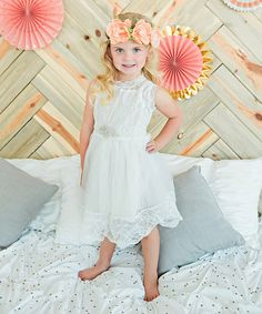 Another great find on #zulily! White Rhinestone Tulle Dress - Infant, Toddler & Girls #zulilyfinds