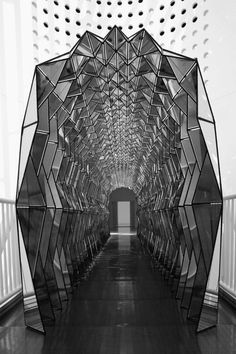 OLAFUR ELIASSON, ONE WAY COLOR TUNNEL 2007: an installation at sfmoma.