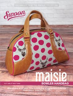 Maisie Bowler Handbag - Swoon Sewing Patterns