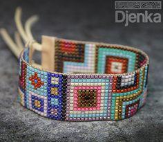 Bransoletka etniczna - beading - Burbank - Djenka