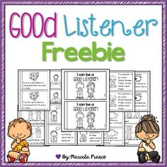 Liwhole body and practice good listening skills with this little 10 page reader… Listening Activities For Kids, Good Listening Skills, Whole Body Listening, Active Listening, Children Activities, Listening Games, Social Skills Lessons, Teaching Social Skills, Social Emotional Learning