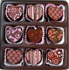 heart shaped dark chocolate truffles | pretty