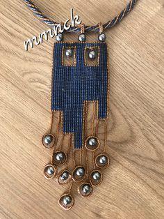 Seed Bead Necklace, Seed Bead Jewelry, Bead Jewellery, Beaded Jewelry, Jewelery, Fiber Art Jewelry, Jewelry Art, Jewelry Gifts, Art Necklaces