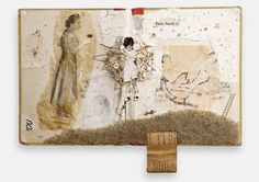 """""""Some, Found"""" by Lisa Kokin: Mixed media book collage, 13.5 x 10 x 2 inches, 2006"""