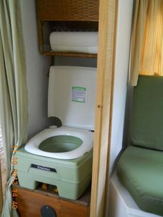 Porta potty in the closet in smaller camper... mmm maybe, but thinking not