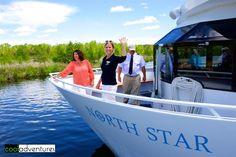 Enjoying beautiful Gull Lake aboard Destiny Cruises in Brainerd Minnesota