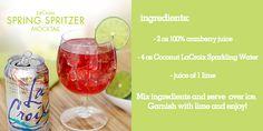 LaCroix Spritzer - Lake House Mocktails! @victoriamoroles