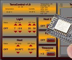 TerraControl v1.0 - with NodeMCU webserver