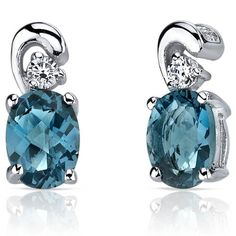 MSRP: $149.99    OurPrice: $79.99    Savings: $70.00        Item Number: SE7162  Availability: Usually Ships in 5 Business Days      PRODUCT DESCRIPTION:    Crafted in Fine Sterling Silver, these earrings feature oval London Blue Topaz gemstones with a beautiful blue hues. Each earring is accented by sparkling cubic zirconia.        FEATURES:      Crafted in Sterling Silver  Polished Finish  Cubic Zirconia Accents  (2) 7x5mm Oval Genuine London Blue Topaz     Shop this product…