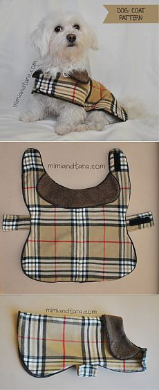 20 Amazing Gifts Your Dog Will Love: Pawsome Gifts for Dogs & Dog Lovers - Dog The brand Dog Coat Pattern, Dog Clothes Patterns, Sewing Patterns, Coat Patterns, Dog Jacket, Puppy Clothes, Doll Clothes, Dog Items, Dog Sweaters