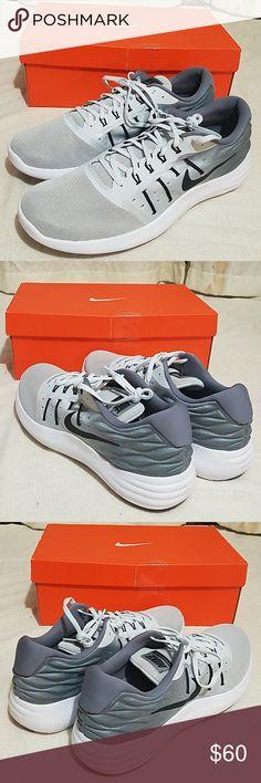 Mens new Nike Lunarstelos shoes pure platinum Blac 3f6f9f4a01