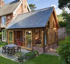 Perfect for the side of our house - New Ideas House Extension Plans, Cottage Extension, Orangery Extension, Extension Ideas, Garden Room Extensions, House Extensions, Oak Framed Extensions, Baroque Decor, Oak Frame House