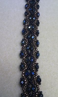 Gorgeous Beadweaved Bracelet in Green Black and by HoneyandGingers, £12.00