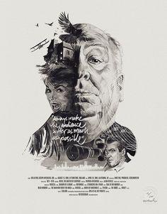 Julian Rentzsch - Movie Director Portraits Alfred Hitchcock