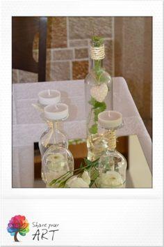 Στολισμός σε ξωκκλήσι Glass Vase, Wedding, Home Decor, Art, Casamento, Homemade Home Decor, Weddings, Kunst, Marriage