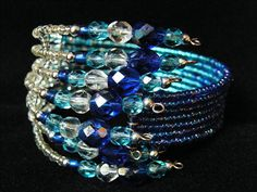 Beaded Bracelets, Blue, Accessories, Jewelry, Fashion, Jewlery, Moda, Jewels, La Mode