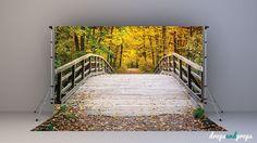 Fall Bridge - Photography Backdrop