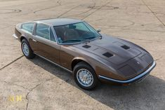 Maserati Indy 4900 - Manual - 1973 - Amazing condition For Sale, The INDY 4900 we are offering is extremely rare and simply exceptional ! Maserati Indy, Leather Interior, Grey Leather, Old Cars, Classic Cars, Indie, Manual, Trains, Europe
