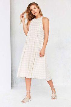 Urban Outfitters Kimchi Blue Eliza Drop Armhole Midi Dress