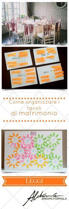 Come organizzare i tavoli al matrimonio - How to organize the tables at the wedding
