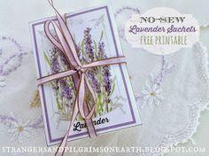 Lavender Paper Sachets DIY ~ Free Printable
