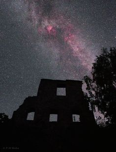 Constellation Cygnus and star Deneb beam brightly above an ancient castle ruin in this beautiful night sky photo by veteran astrophotographer P-M Heden of The World at Night (http://www.clearskies.se/)