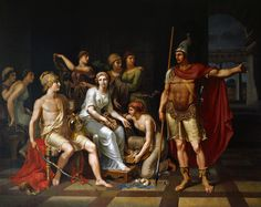 Hector Admonishes Paris for His Softness and Exhorts Him to Go to War by J. H. W. Tischbein (1751–1829). In the collection of the Oldenburg Augusteum