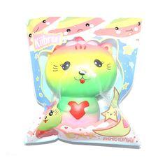 12PCS/LOT New Rainbow Kiibru Rare Cat Girl Squishy Super Slow Rising Kawaii Original Package Gift Kids Toy Wholesale #Affiliate
