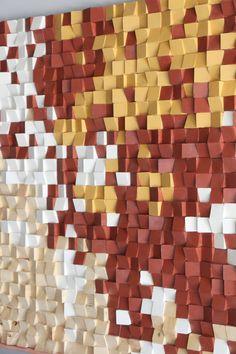 Grote teruggewonnen hout wall Art Woodburning Wood mozaïek