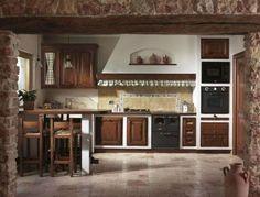 Cucine in finta muratura - Cucina con angolo snack