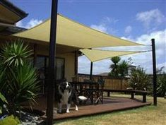 A sun shade sail is a great alternative to a gazebo, pergola or patio umbrella because it can move to different places with ease, and save money to do it Pergola Patio, Pergola Canopy, Canopy Outdoor, Patio Roof, Backyard Patio, Screened Gazebo, Gazebo Canopy, Pergola Kits, Pergola Ideas