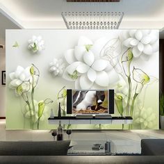 In this light and flowered room, the flow of positive energy is guaranteed.