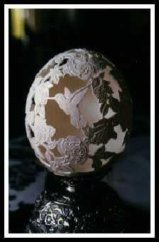 Egg Shell Art. Such Talent!