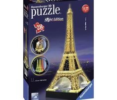 RAVENSBURGER Puzzle 3D Tour Eiffel Night Edition 216 Pièces