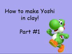Yoshi Tutorial Part #1 Polymer clay / Porcelana fria / Plastilina - YouTube