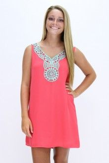 Southern Flair Boutique- Watermelon Aztec Dress