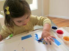 Resultado de imagen de finger painting toddler
