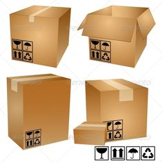 Cardboard Boxes  #GraphicRiver         Set of cardboard boxes. Item is fully editable, contains: EPS10, Ai, JPEG, and PSD files. It can be scaled to any size     Created: 16August13 GraphicsFilesIncluded: PhotoshopPSD #JPGImage #VectorEPS #AIIllustrator Layered: Yes MinimumAdobeCSVersion: CS Tags: box #brown #cardboard #carton #closed #container #delivering #distribution #empty #freight #icon #illustration #mail #objects #open #package #packing #paper #retail #shipping #shopping #sign…