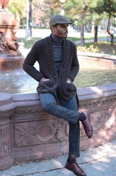 3d056cb29 Gap Flat cap Zara SweaterZara TurtleneckCalvin Klein Dress PantsMathew  Dacks Shoes Ibrahim