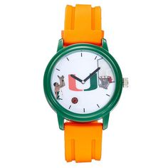 Men's Miami Hurricanes Basketball Watch, Orange