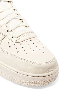 Nike - Nikelab Air Force 1 Textured-leather High-top Sneakers - Off-white - US5.5