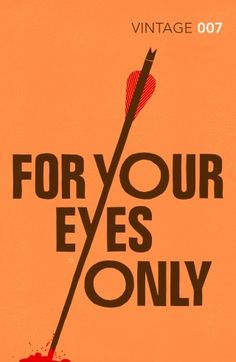 for your eyes only vintage 007 book cover