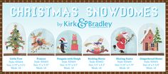 Brand New Christmas Snowdome Canvases out now from Kirk & Bradley. Available for purchase now:) #needlepoint