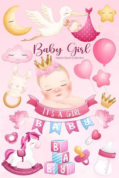 Baby Shower Pictures, Cute Baby Girl, Cute Babies, Baby Shower Clipart, Baby Girl Wishes, Cute Hippo, Mother Art, Baby Clip Art, Printables