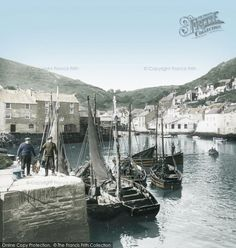 Polperro, The Harbour 1924.