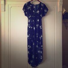 UO ecote high low navy festival dress - sz small perfect for festival days with a cute sandal! worn 2x. no rips/tears/stains. GORGEOUS FIT. great on hourglass shapes. stretchy empire waist for added comfort. please feel free to make me an offer!  Urban Outfitters Dresses High Low