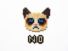 Grumpy Cat Perler Sprite